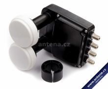 Inverto LNB Quad Monoblock Black Pro; 4,3°, 0,2 dB
